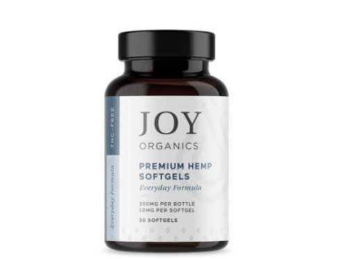 Joy Organics Premium Grade CBD Capsules - 30ct 300mg