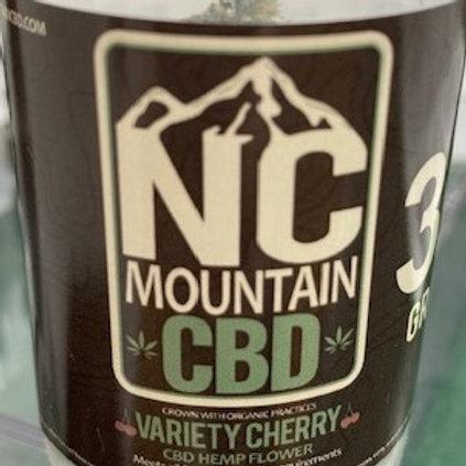 NC Mountain CBD, 2 grams Local flower, Variety Cherry
