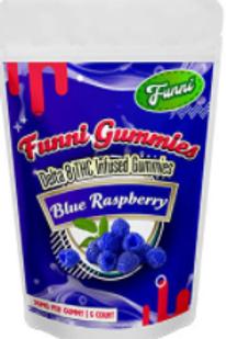 Funni Gummi Delta-8 (5 ct) - 125 mg, Blue Raspberry