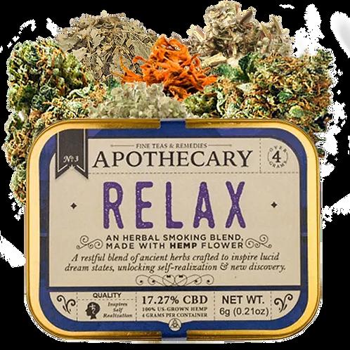Apothecary Smoking Blend, Relax, 6 grams hemp flower