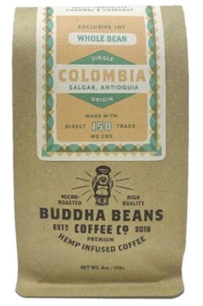 Buddha Beans Whole Bean CBD Coffee 6 oz, Exclusive Columbia