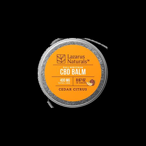 Lazarus Naturals Full Spectrum CBD Balm - 400 mg - Cedar Citrus