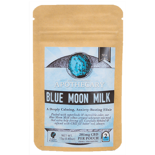 Apothecary Powder Drink Mix, Blue Moon Milk, 201mg