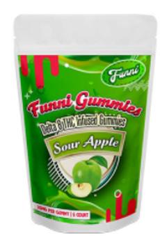 Funni Gummi Delta-8 (5 ct) - 125 mg, Sour Apple