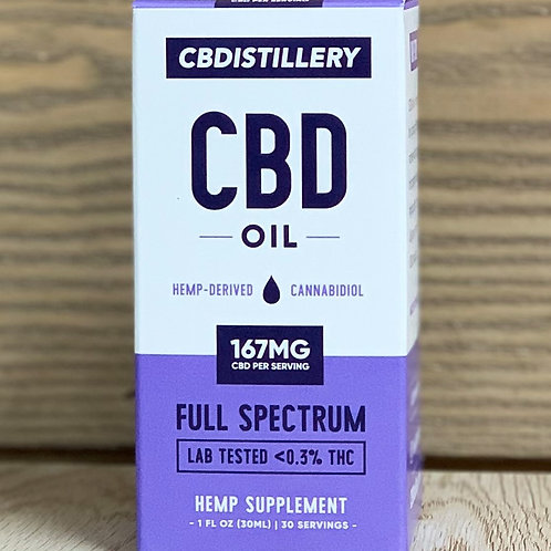 CBDistillery Full Spectrum Tincture 1oz - 167 mg dose