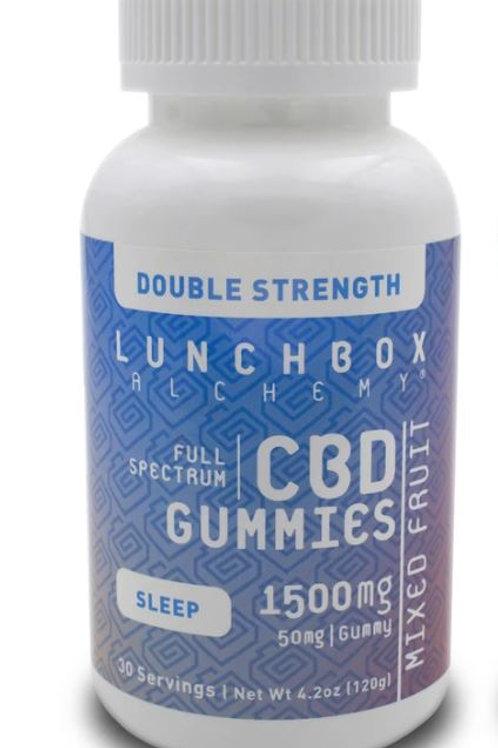 Lunchbox Alchemy CBD Gummies Daily SLEEP 1500 mg (Double Strength)