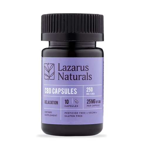Lazarus Naturals25mg Relaxation CBD Capsules - 10ct 250mg