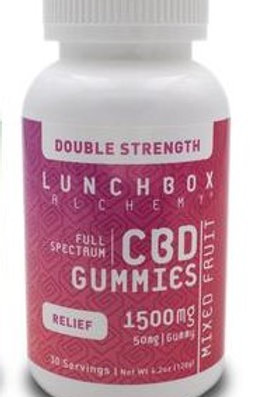Lunchbox Alchemy CBD Gummies Daily RELIEF 1500 mg