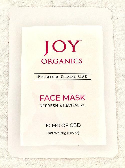 Joy Premium Grade CBD Face Mask - 10mg