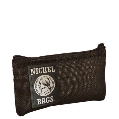 """Dime Bags Nickel Bag 5"""" Zippered Pouch - Black"""
