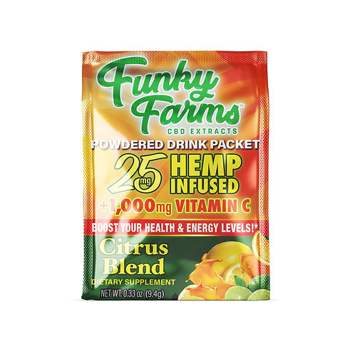 Funky Farms 25mg Powdered Drink Packets, Citrus Blend