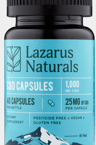 Lazarus 25mg CBD Capsules - 40ct 1,000mg