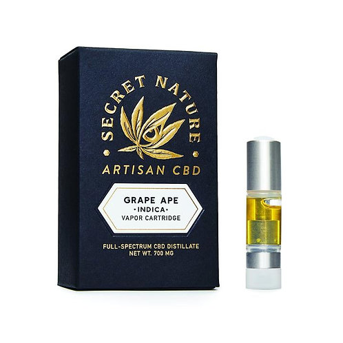 Secret Nature Artisan CBD Vape Cartridge - 700 mg - Grape Ape
