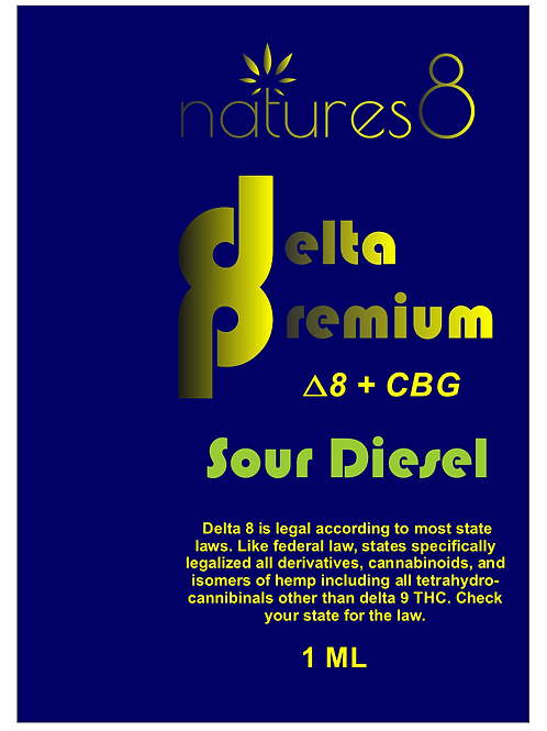 Natures 8 Delta 8 Premium Cartridge D8 + CBG