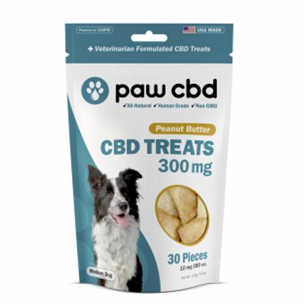 Paw CBD Pet Treats - 300 mg - Peanut Butter