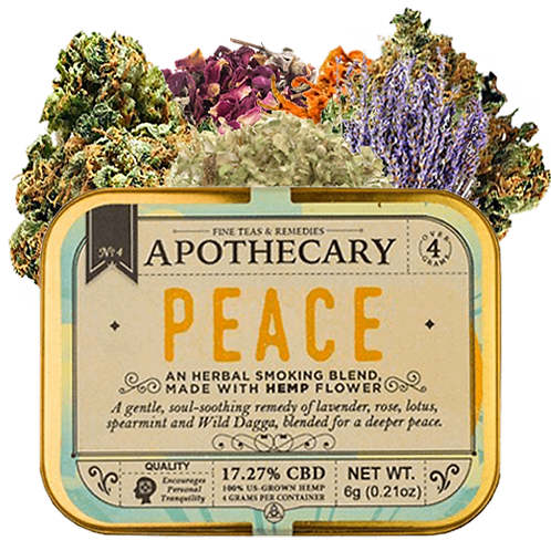 Apothecary Smoking Blend, Peace, 6 grams Hemp flower