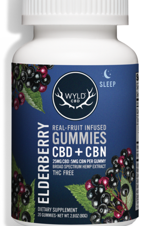 WYLD Gummies 250mg (10 Pack), Elderberry (CBN:CBD)