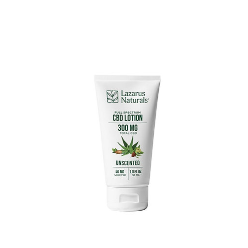 Lazarus 300mg Lotion, unscented