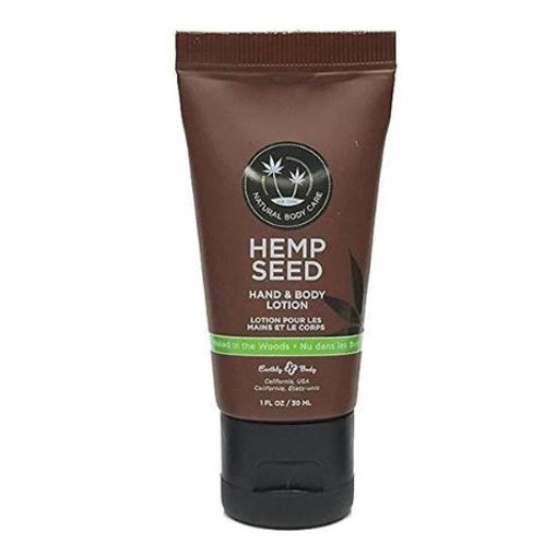 Earthly Body Hemp Seed Lotion 1oz - Naked in the woods