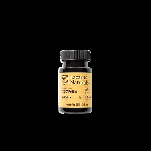 Lazarus Naturals 10mg CBD Capsules - 10ct 100mg
