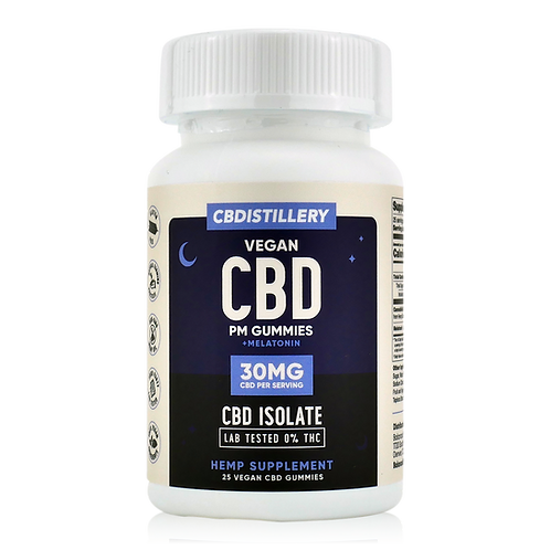 CBDistillery Isolate Gummies PM w/Melatonin (Isolate), 750 mg