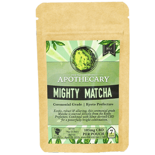 Apothecary Powder Drink Mix, Mighty Matcha, 105mg