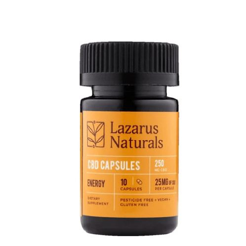 Lazarus Naturals 25mg Energy Capsules - 10 ct 250mg
