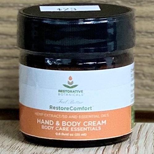 Restorative Botanicals RestoreComfort Hand & Body Cream - 0.8oz 50mg