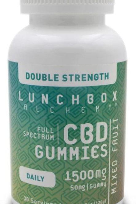 Lunchbox Alchemy CBD Gummies Daily 1500 mg (Double Strength)