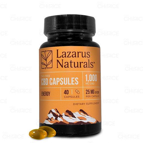Lazarus Naturals25mg Energy Blend CBD Capsules - 40ct 1,000mg