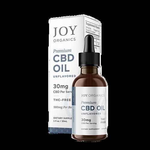 Joy Organics Unflavored Tincture - 900 mg