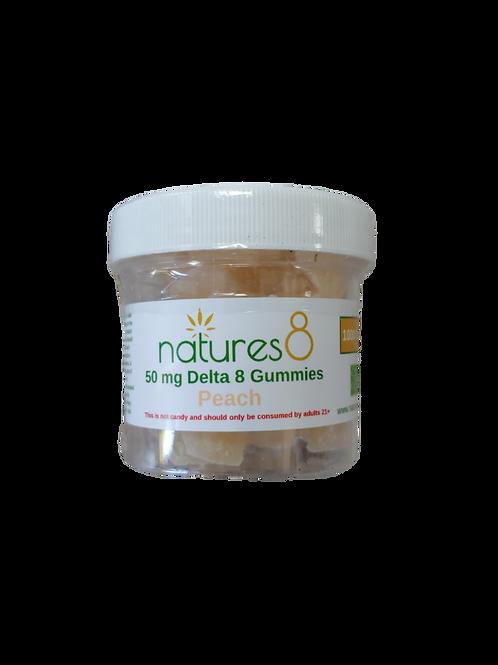 Nature's 8 Delta-8 Gummies (500 mg), Peach