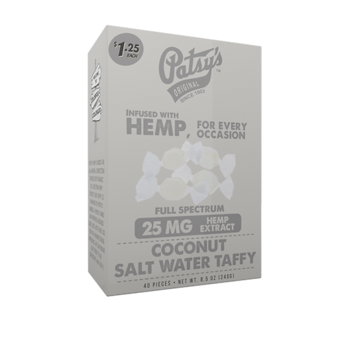 Patsys Salt Water Taffy, Individual piece - Coconut