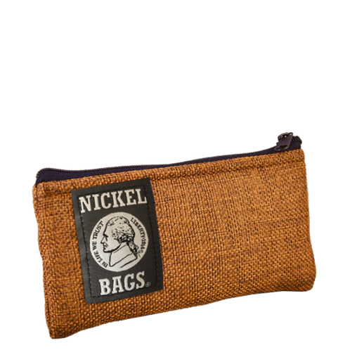 """Dime Bags Nickel Bag 5"""" Zippered Pouch - Brown"""