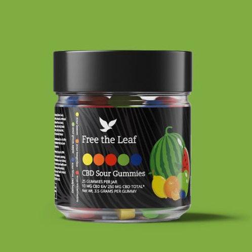 Free the Leaf CBD Sour Gummies - 250 mg