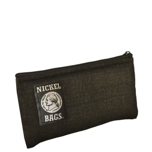 """Dime Bags Nickel Bag 6"""" Zippered Pouch - Black"""