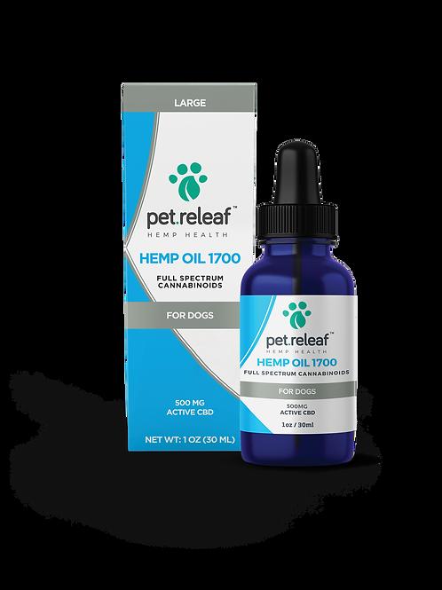 Pet Releaf CBD Oil 1700, 500 mg pet tincture