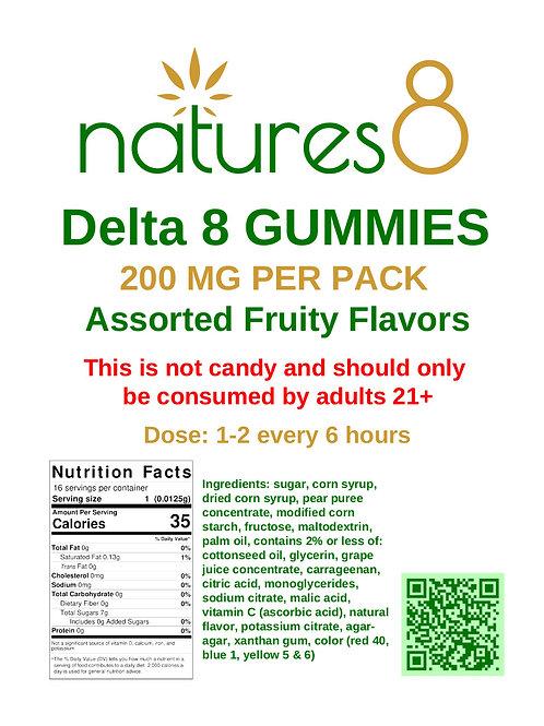 Natures 8 Delta 8 Gummies 200mg