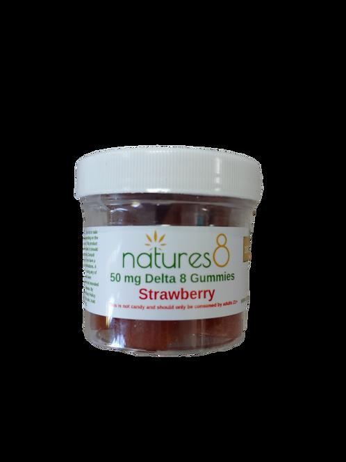 Nature's 8 Delta-8 Gummies (500 mg), Strawberry