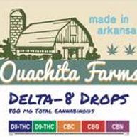 Ouachita Farms Rosin Caps - Delta 8 Drops - 165 mg (33 mg each cap)