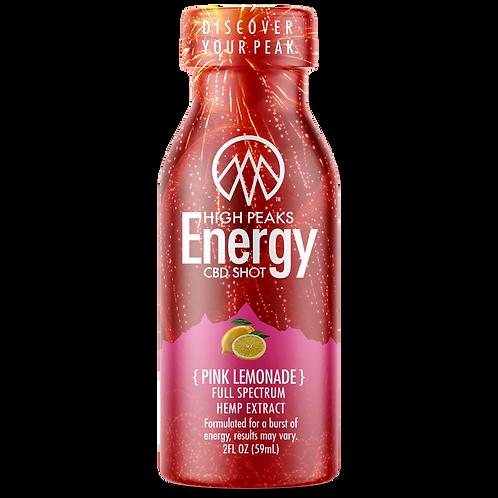 High peaks Energy CBD Shot - Pink Lemonade
