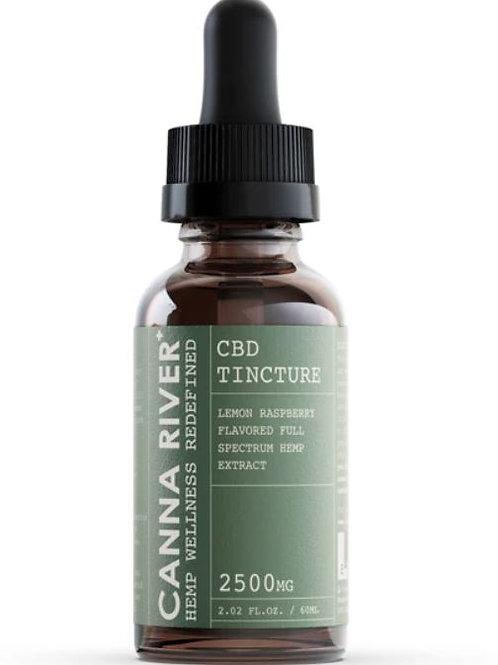 Canna River CBD Tincture (2500 mg), Lemon Raspberry