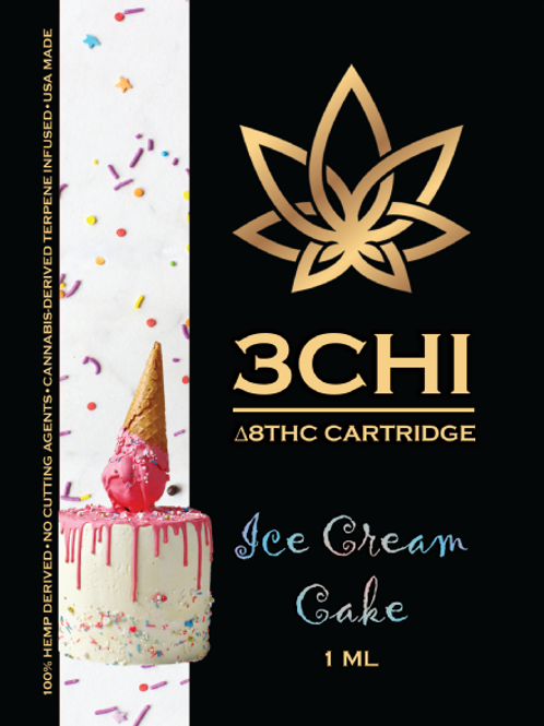 3Chi Delta-8 Vape - 950 mg, Ice Cream Cake (CDT)