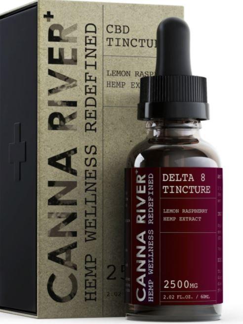 Canna River Delta-8 Tincture (2500 mg) - Lemon Raspberry