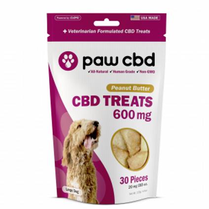 Paw CBD Pet Treats - 600 mg - Peanut Butter