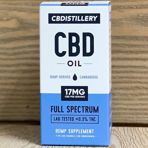 CBDistillery Full Spectrum Tincture 1oz - 17 mg dose