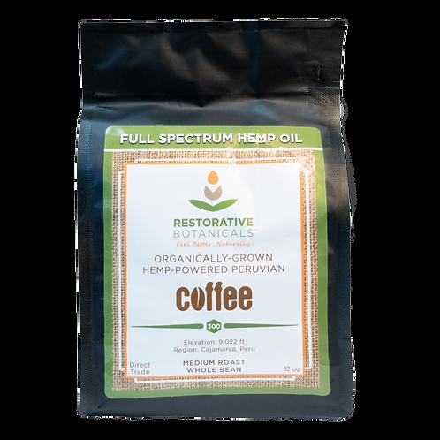 Restorative Botanicals Hemp-Powered Peruvian Coffee - 4oz 75mg