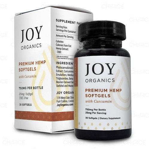 Joy Premium Grade CBD + Curcumin Capsules - 30ct 750mg