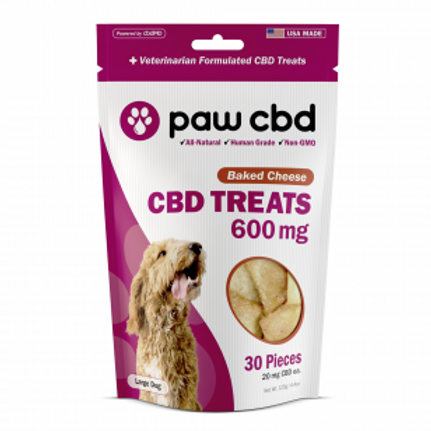 Paw CBD Pet Treats - 600 mg - Baked Cheese