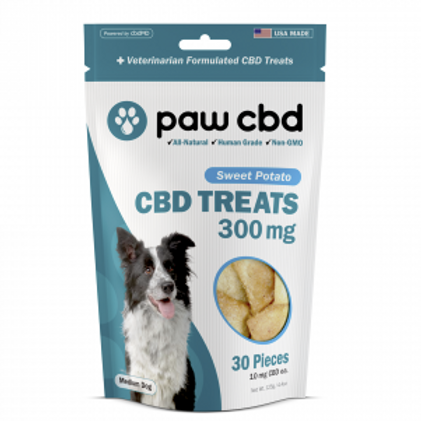 Paw CBD Pet Treats - 300 mg - Sweet Potato